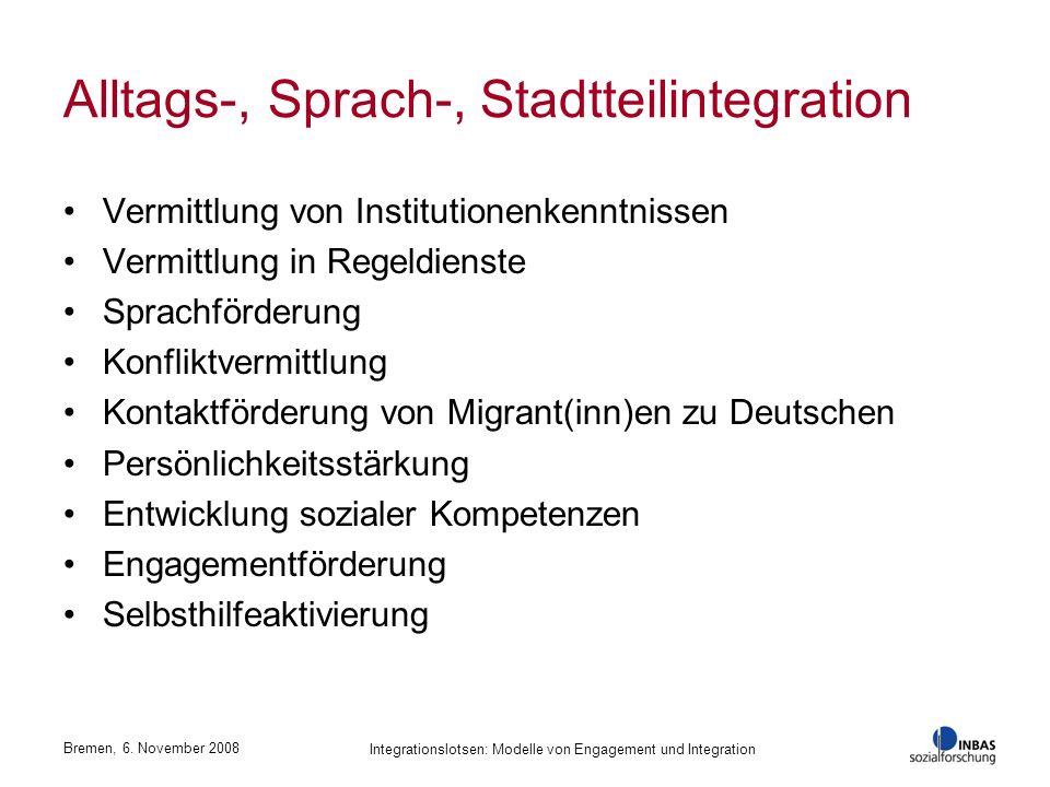 Alltags-, Sprach-, Stadtteilintegration