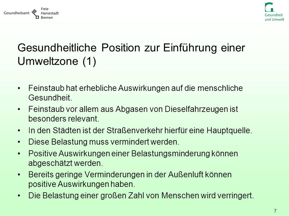 Gesundheitliche Position zur Einführung einer Umweltzone (1)