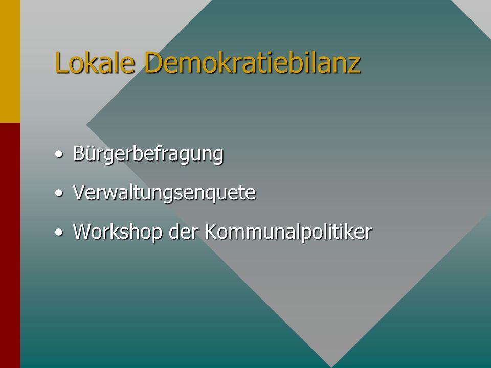 Lokale Demokratiebilanz