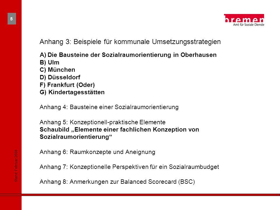 Anhang 3: Beispiele für kommunale Umsetzungsstrategien