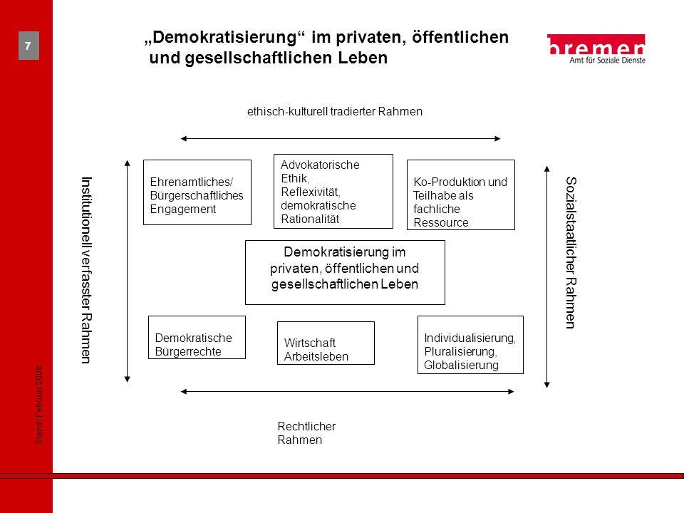 """""""Demokratisierung im privaten, öffentlichen"""