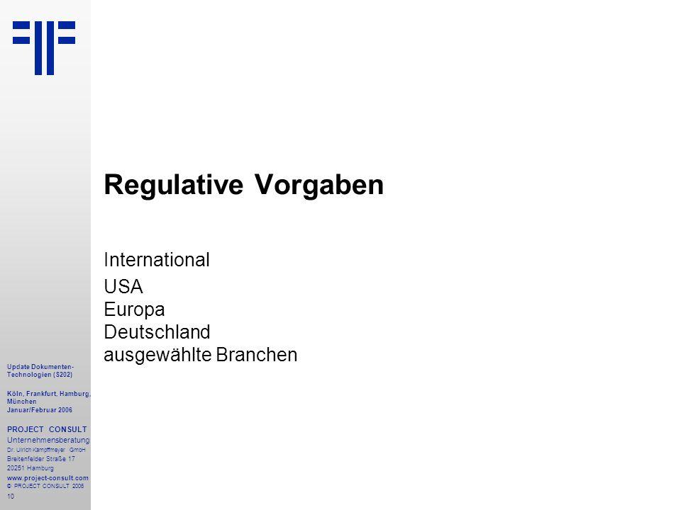 International USA Europa Deutschland ausgewählte Branchen