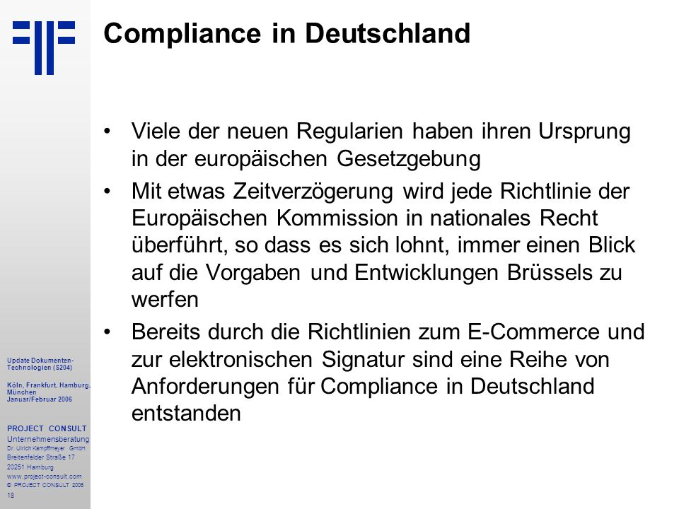 Compliance in Deutschland