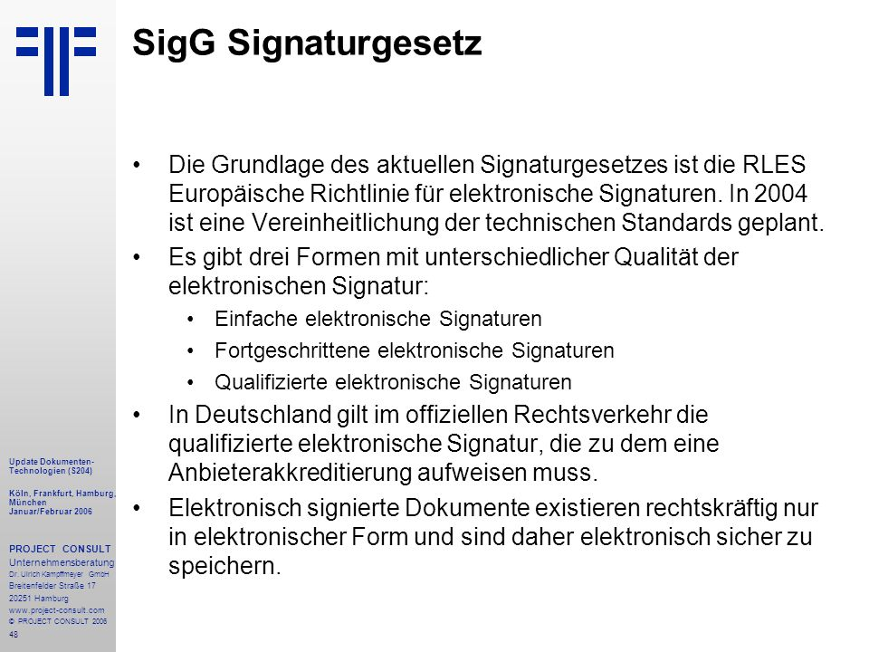 SigG Signaturgesetz