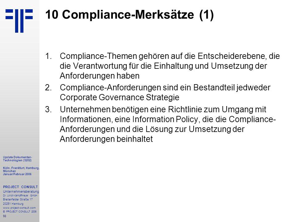 10 Compliance-Merksätze (1)