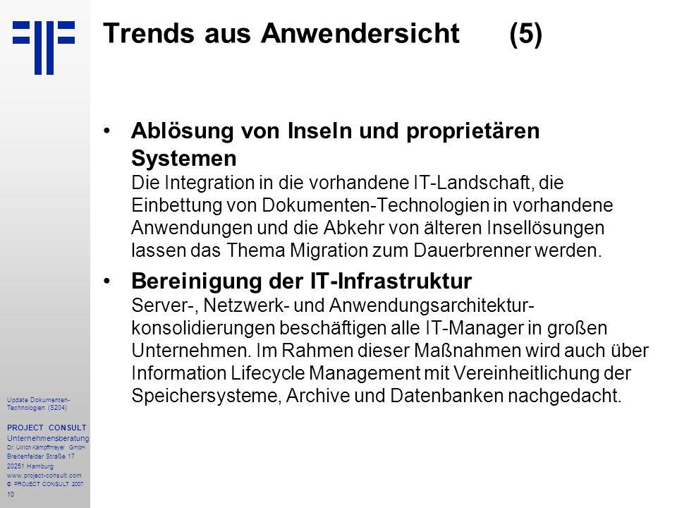 Trends aus Anwendersicht (5)