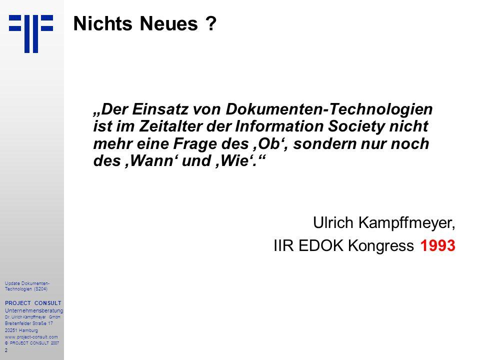 Nichts Neues Ulrich Kampffmeyer, IIR EDOK Kongress 1993