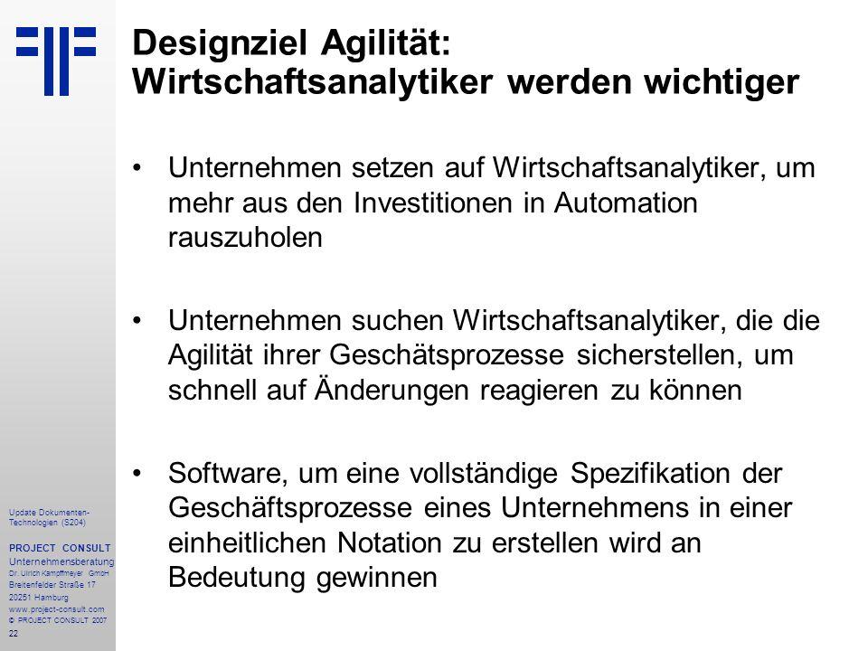 Designziel Agilität: Wirtschaftsanalytiker werden wichtiger