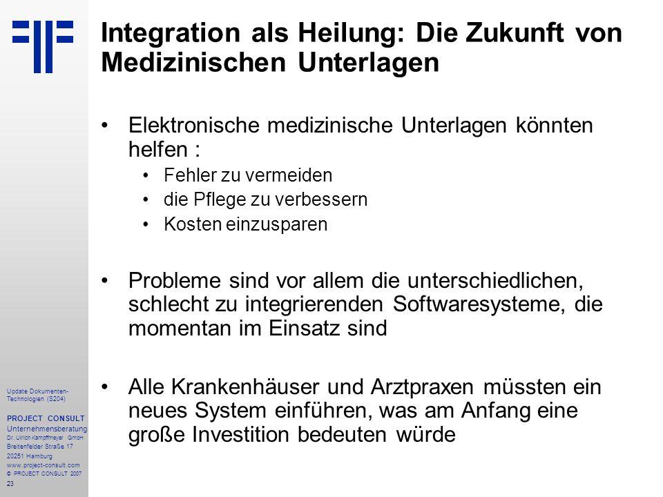 Integration als Heilung: Die Zukunft von Medizinischen Unterlagen