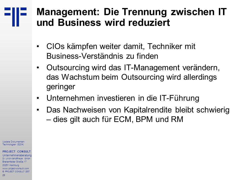 Management: Die Trennung zwischen IT und Business wird reduziert