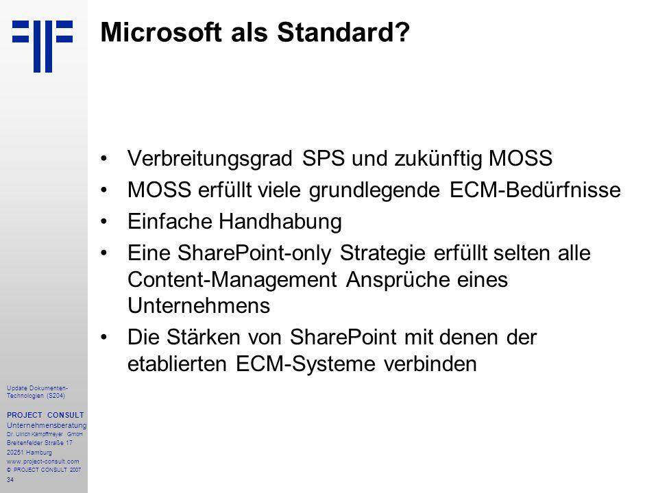 Microsoft als Standard
