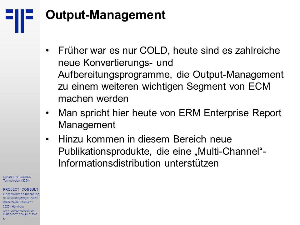 Output-Management