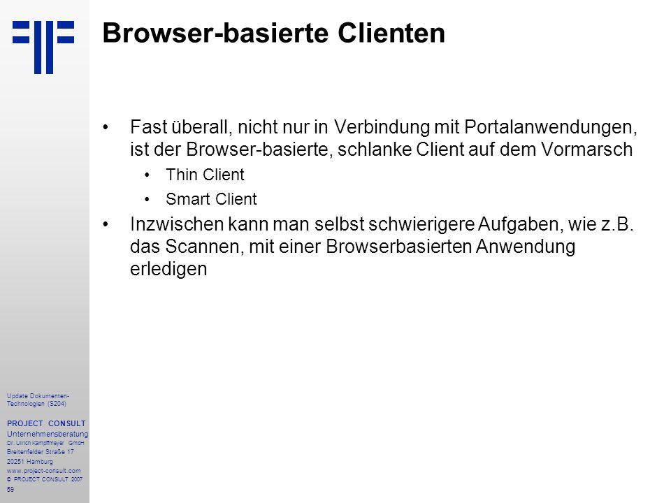 Browser-basierte Clienten