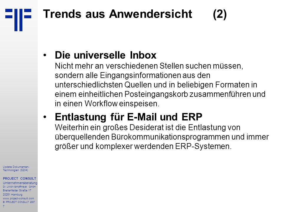 Trends aus Anwendersicht (2)