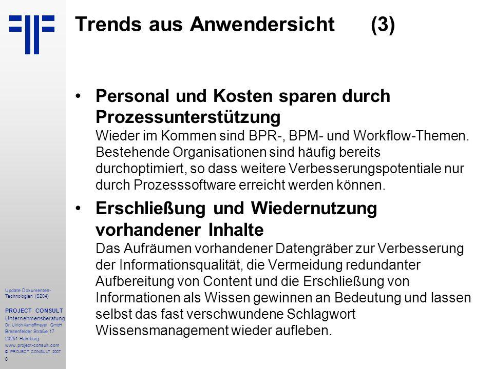 Trends aus Anwendersicht (3)