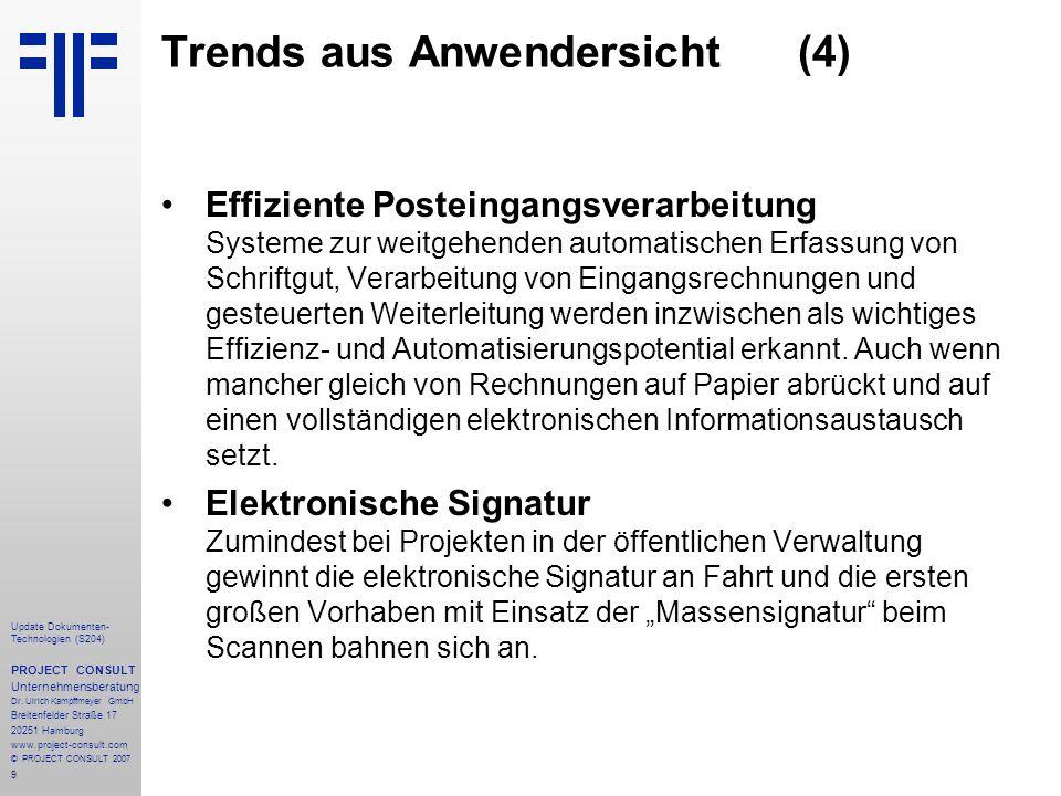 Trends aus Anwendersicht (4)
