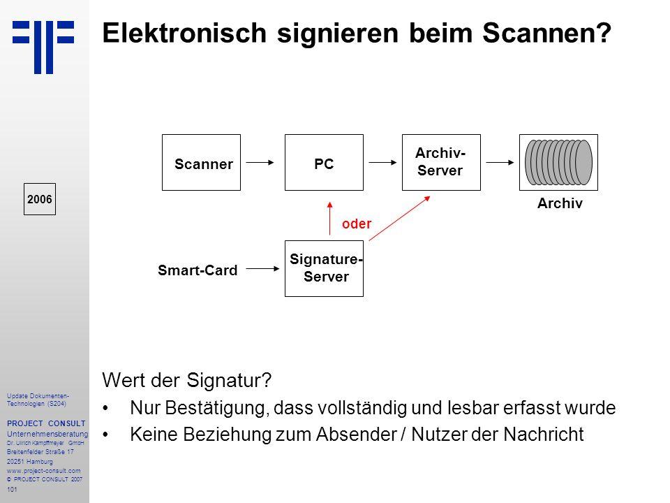 Elektronisch signieren beim Scannen