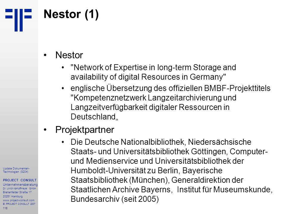 Nestor (1) Nestor Projektpartner