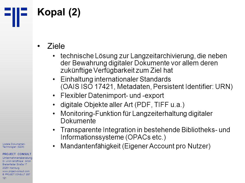 Kopal (2) Ziele.