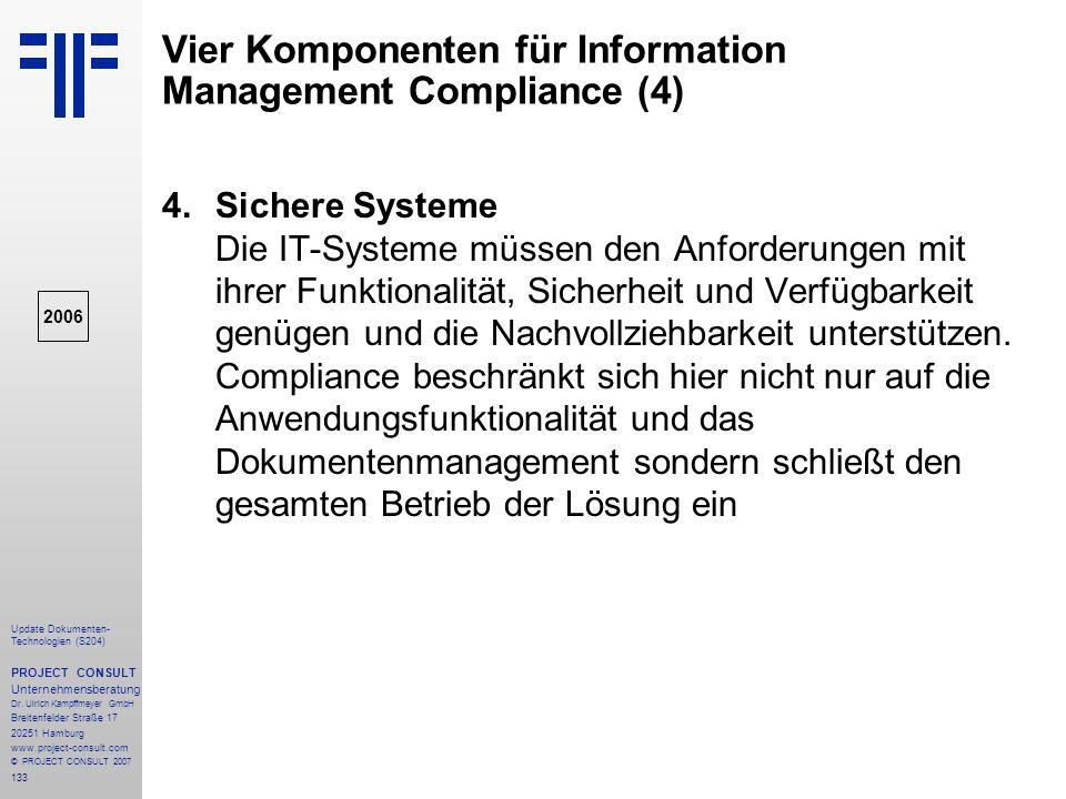 Vier Komponenten für Information Management Compliance (4)