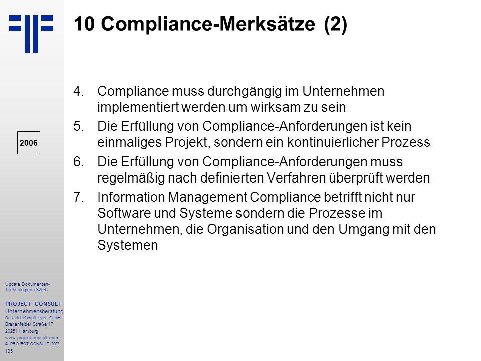 10 Compliance-Merksätze (2)
