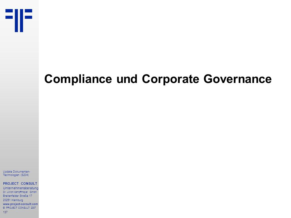 Compliance und Corporate Governance