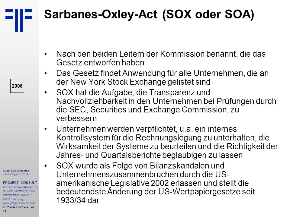 sarbanes oxley act law 421 Read this essay on law 421 week 5 article article review sarbanes-oxley act (sox act) of 2002 - 421/law the sarbanes-oxley act would magnify management's.