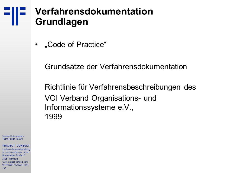 Verfahrensdokumentation Grundlagen