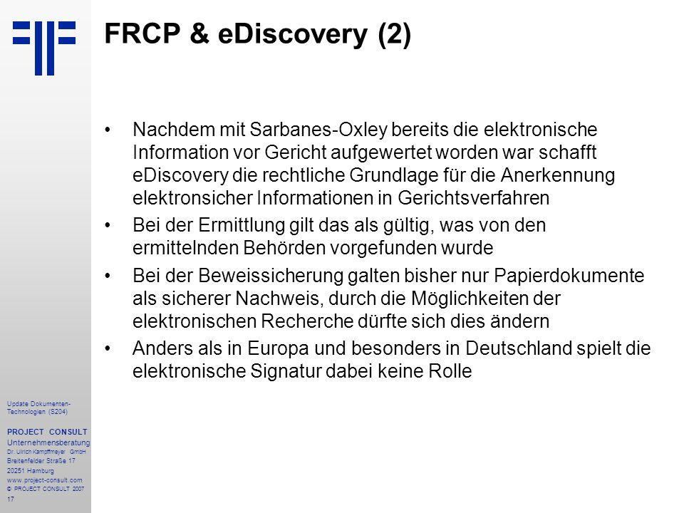FRCP & eDiscovery (2)