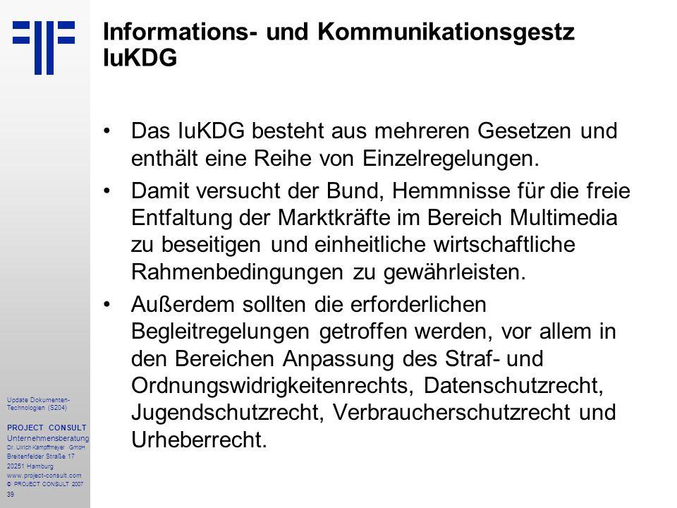 Informations- und Kommunikationsgestz IuKDG