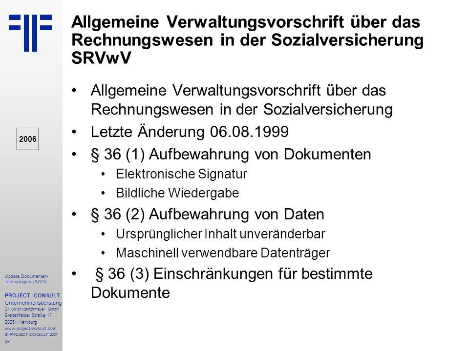 Allgemeine Verwaltungsvorschrift über das Rechnungswesen in der Sozialversicherung SRVwV