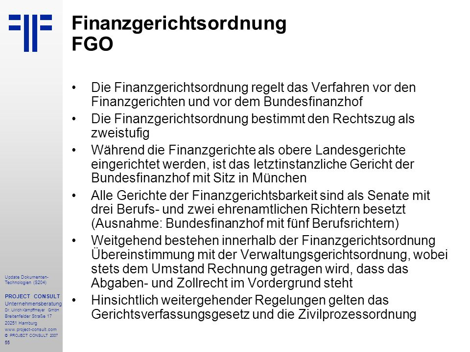 Finanzgerichtsordnung FGO