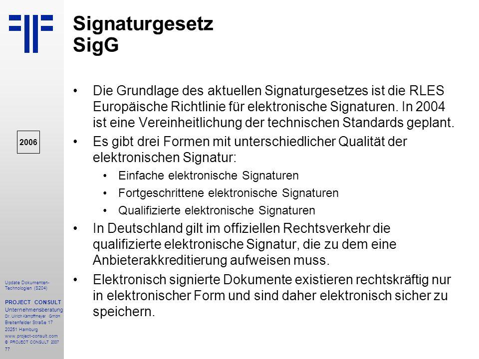 Signaturgesetz SigG