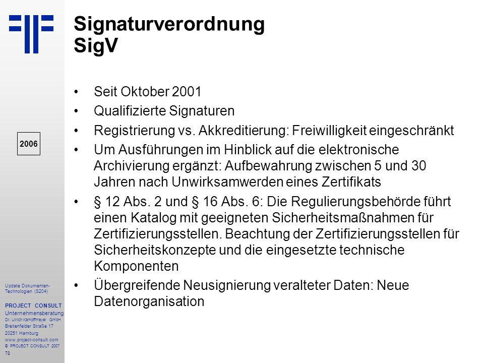 Signaturverordnung SigV