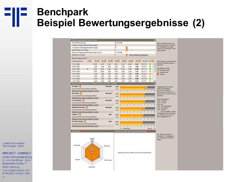 Benchpark Beispiel Bewertungsergebnisse (2)