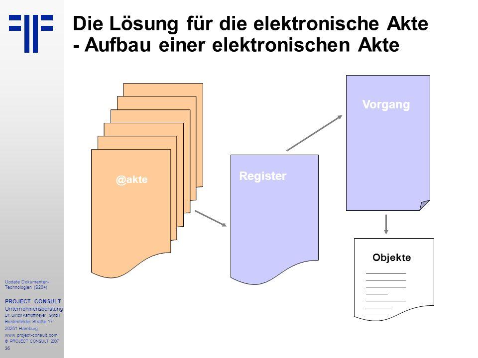 Die Lösung für die elektronische Akte - Aufbau einer elektronischen Akte