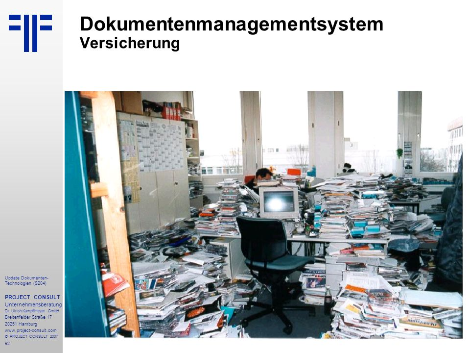 Dokumentenmanagementsystem Versicherung