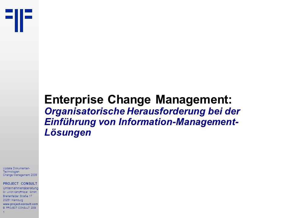 Enterprise Change Management: