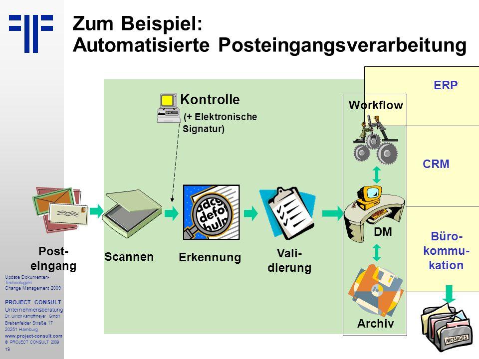 Zum Beispiel: Automatisierte Posteingangsverarbeitung