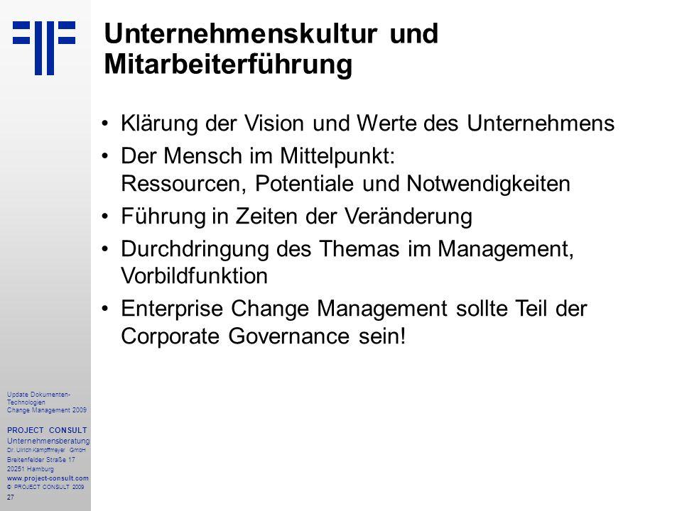 Unternehmenskultur und Mitarbeiterführung