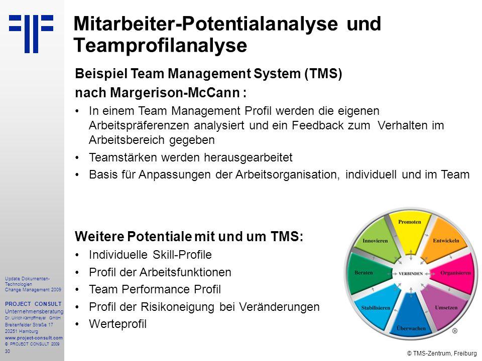 Mitarbeiter-Potentialanalyse und Teamprofilanalyse