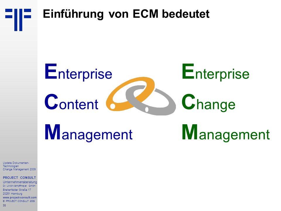 Einführung von ECM bedeutet