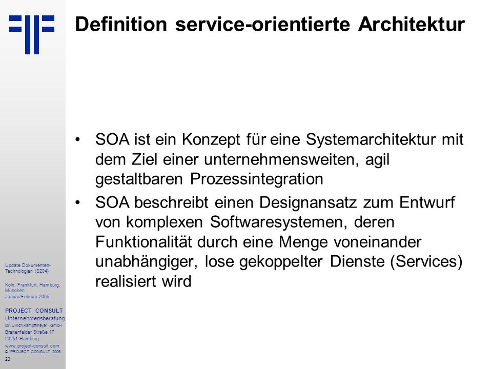 Definition service-orientierte Architektur