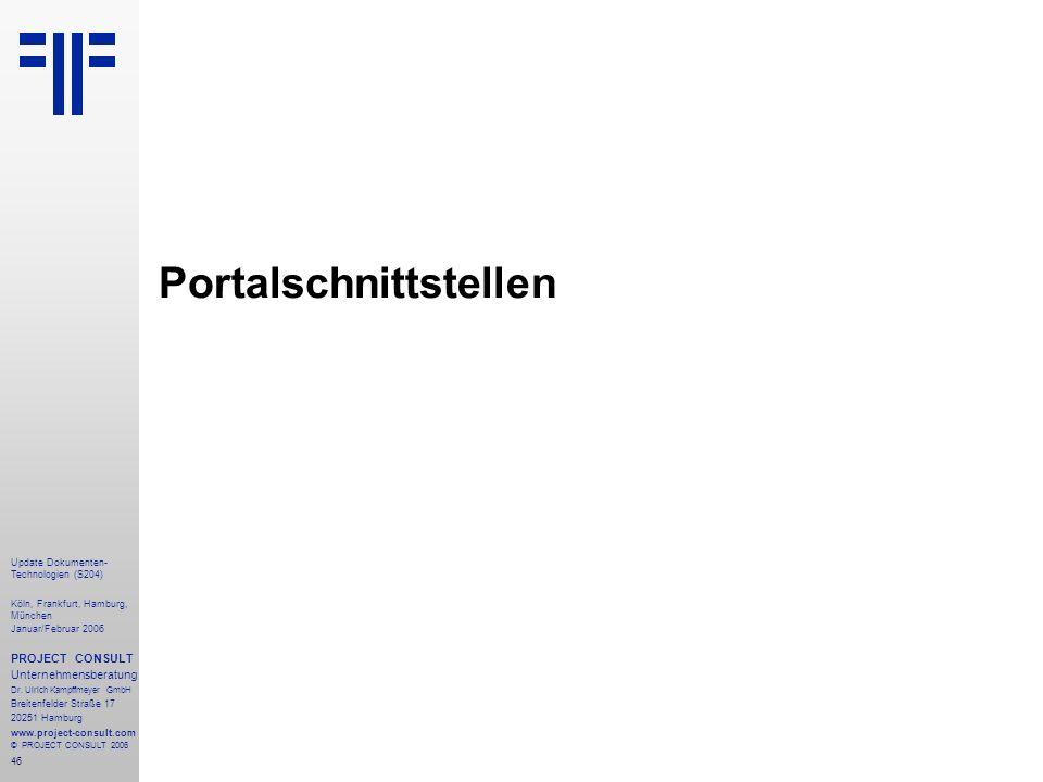 Portalschnittstellen