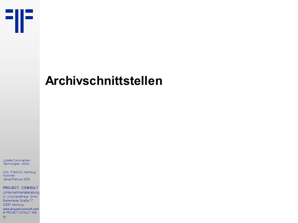 Archivschnittstellen