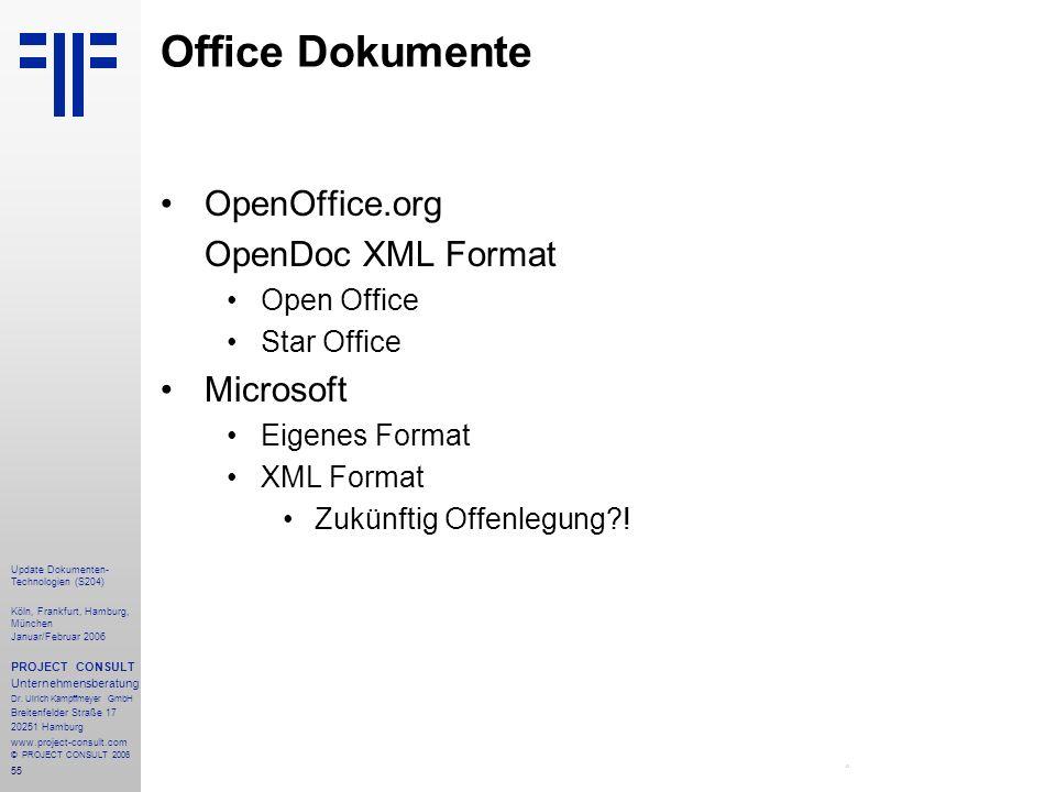 Office Dokumente OpenOffice.org OpenDoc XML Format Microsoft