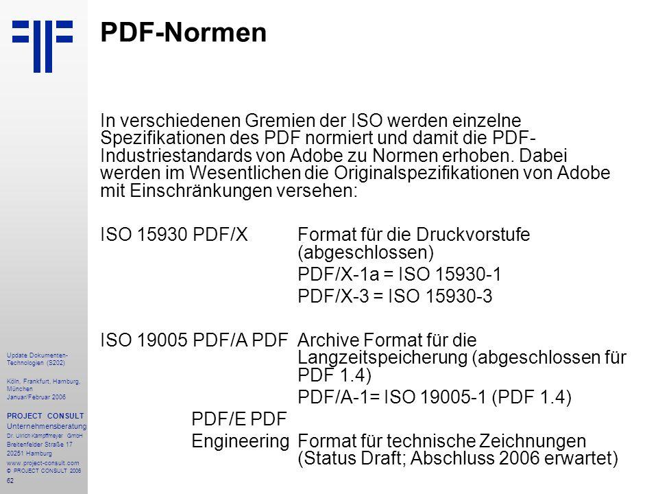 PDF-Normen