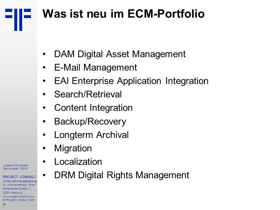Was ist neu im ECM-Portfolio