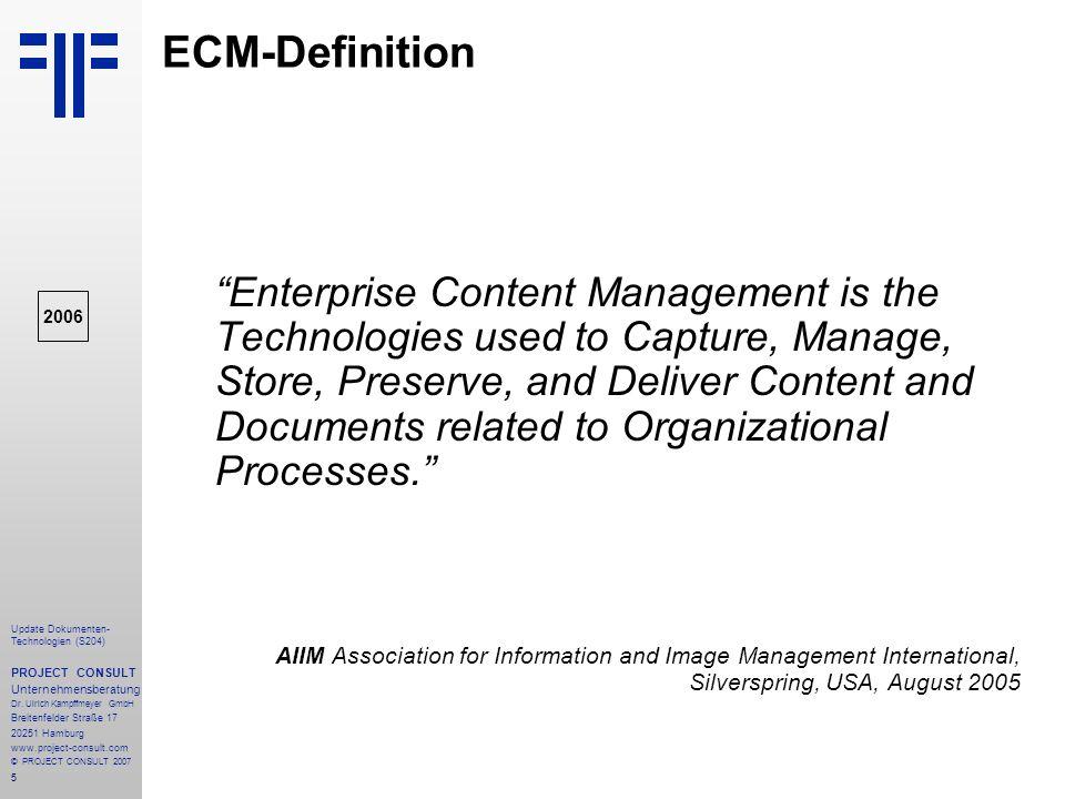 ECM-Definition