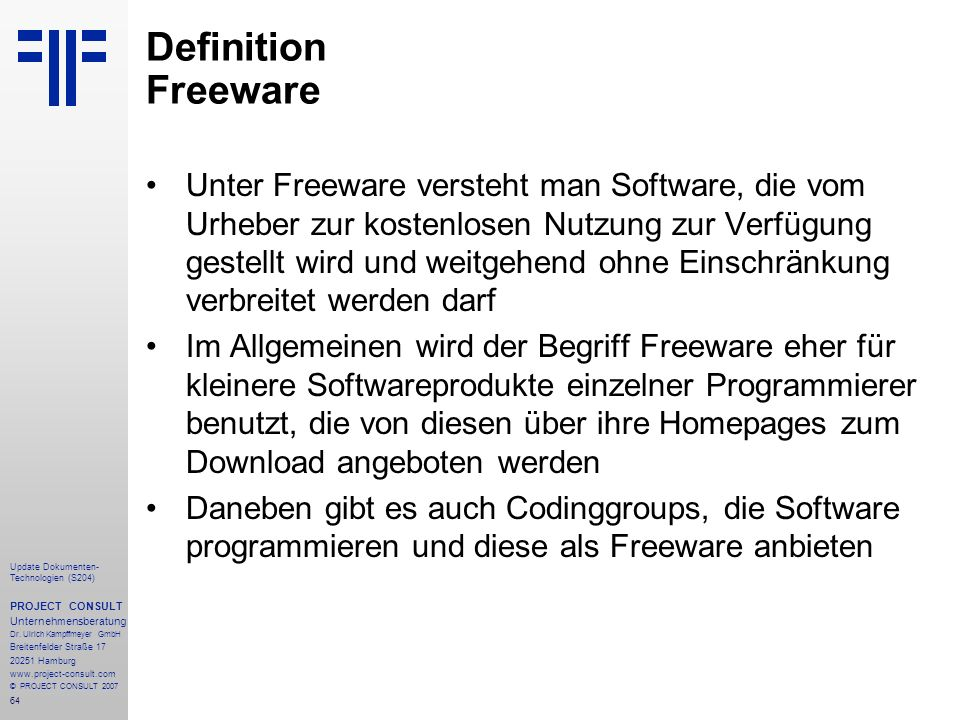 Definition Freeware